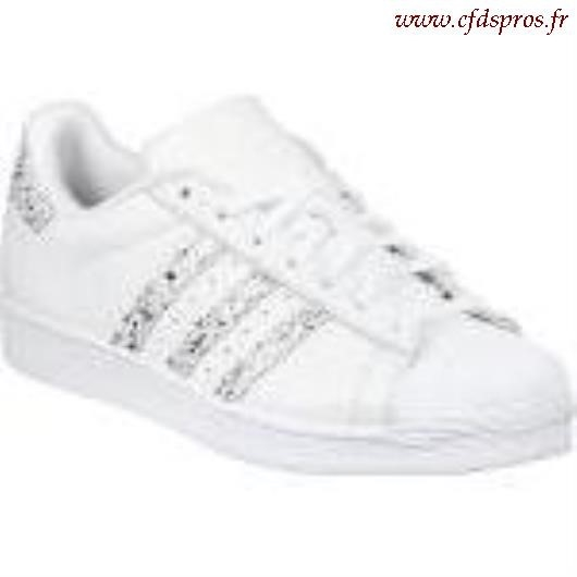 adidas Superstar Paillettes Argentée Chaussures Baskets